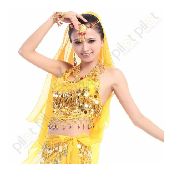 Tribal Belly Dance Top Costume Choli Top Bra Beads Bells Free Shipping 8 color