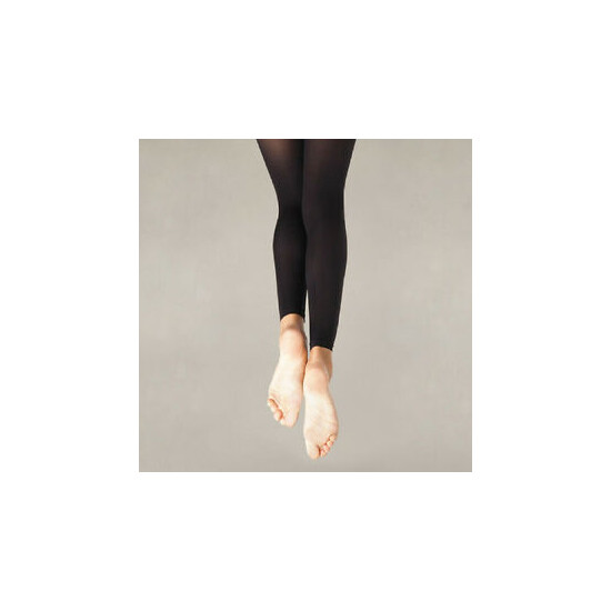 Body Wrappers A33X Black Women's Plus Size 3X-4X Footless Tights