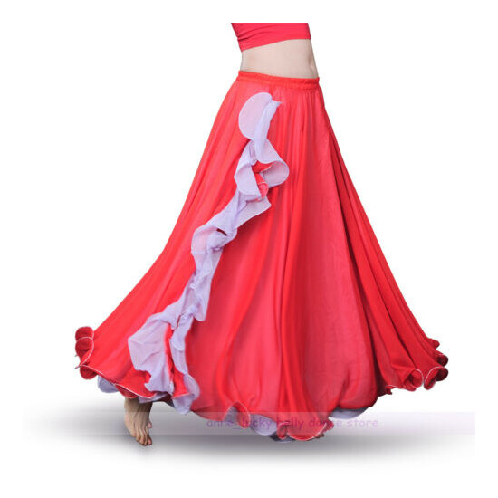 NEW High Quality Belly Dance Performance Show Skirt 2 Color Split Skirt 9 colors
