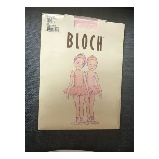 NEW Bloch Girls Endura Footed Tights T09216 color: pink sz Large (10-12)