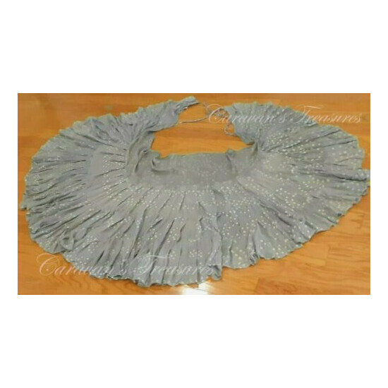 Soft Gray Jaipur Wrap Bustle Skirt Tribal Fusion Belly Dance ATS Free 3-day Ship