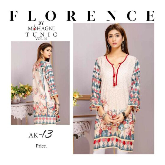 FLORENCE PRINTED TUNIC COLLECTION KURTI BY MOHAGNI READY TO WEAR SIZE M