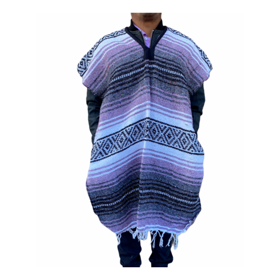 NEW FALSA PONCHO , MADE IN MEXICO , SARAPE , ONE SIZE FITS ALL , CHOOSE COLOR