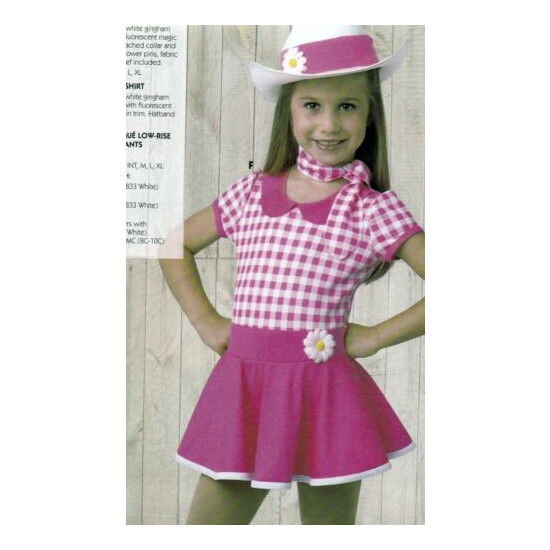 NWOT COUNTRYWESTERN Pink/white check dance costume Wolff Fording skirted leotard