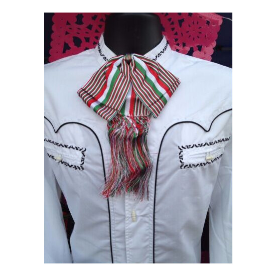 Mexican Bow Tie Charro and Mariachi Tricolor Adult From Mex.Moño Charro/Mariachi