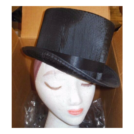 New Lot of 5 Ultrastraw Silk Top Hats Theatrical Dance Use Medium Adult size