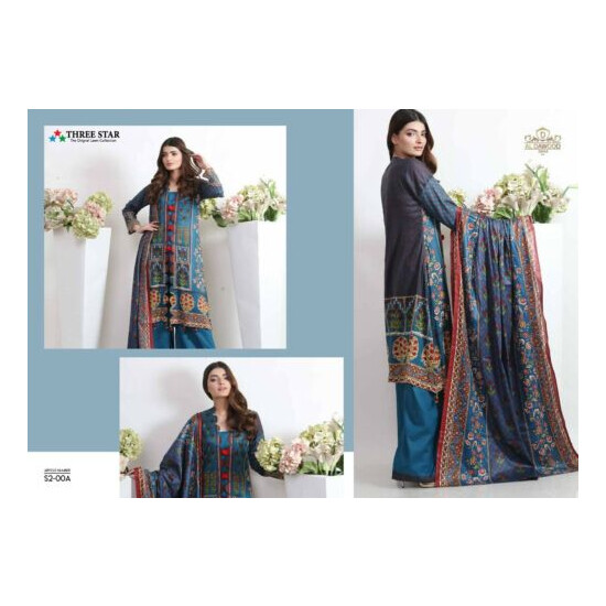 THREE STAR LAWN COLLECTION 3 PIECE SUIT READY TO WEAR