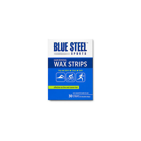 Blue Steel Sports HAIR REMOVAL WAX STRIPS for Cyclists, Runners & Athletes