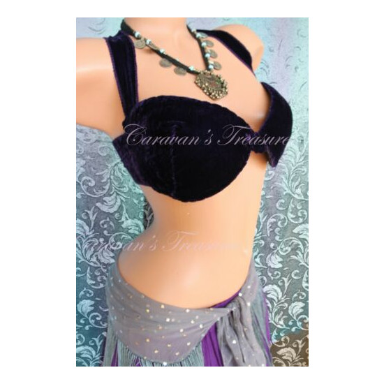 Purple Bra Base for Belly Dance Size C, D Free 3-Day Shipping