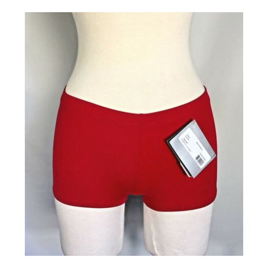 SO DANCA Ladies Low Rise Dance Booty Shorts, Black or Red, RUNS SMALL, NWT