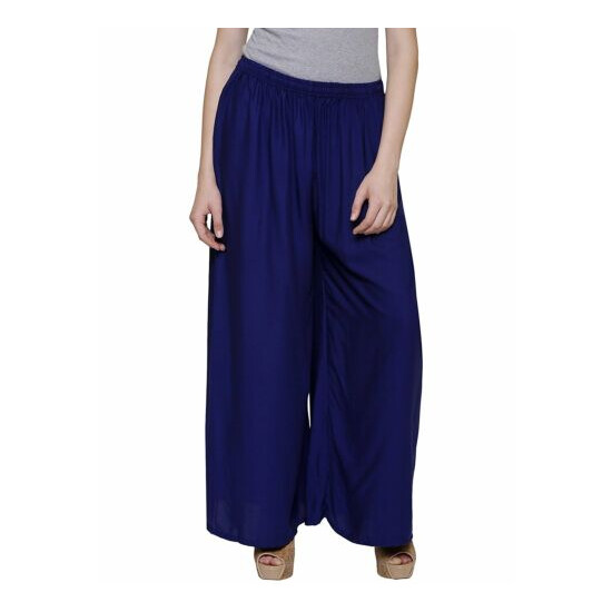 Women' Palazzo Solid Ethnic Wear Regular Fit Rayon Palazzo Party/Casual Wear
