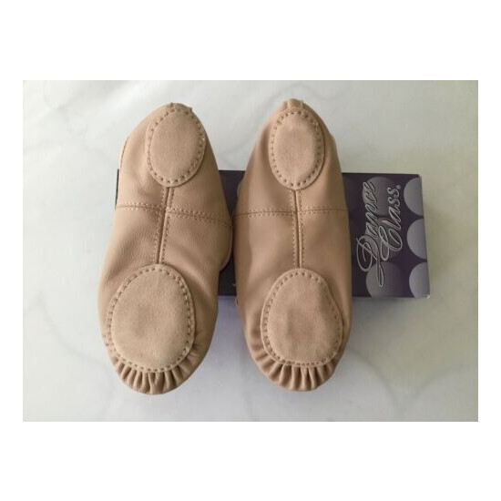 Dance Class Girls Pink Leather Split Sole Ballet Shoes New Size 2 1/2