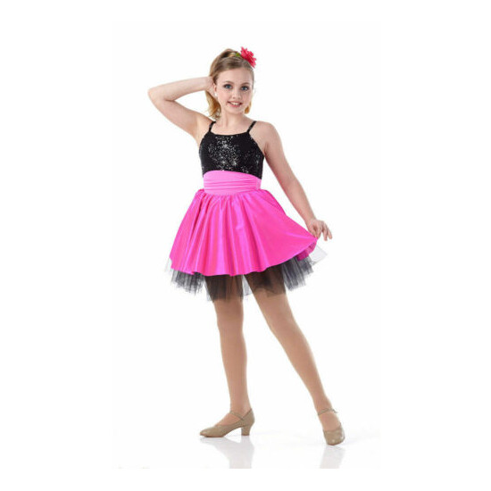 Adult Large PROM QUEEN Ballet Jazz Tap Dance Costume PINK