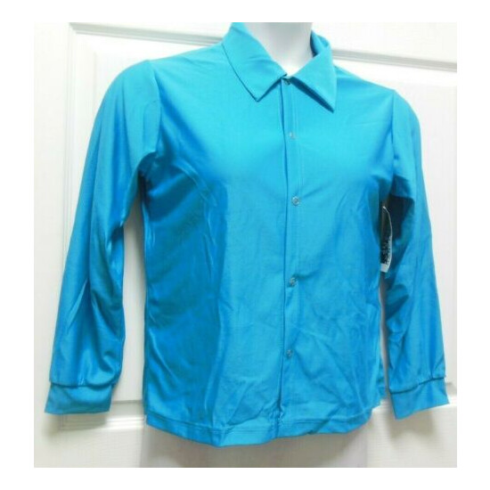 SNAP FRONT LONG SLEEVE Collar DANCE SHIRT CREPE Child Ladies Mens Sizes
