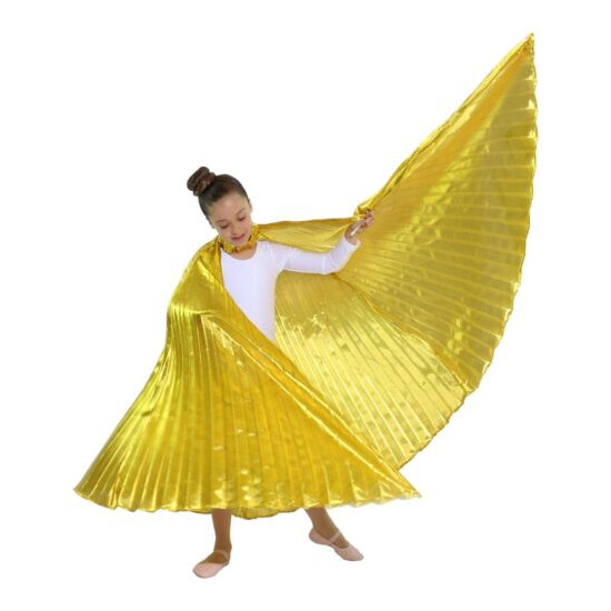 Danzcue Solid Gold Belly Dance Worship Angel Wings With Sticks